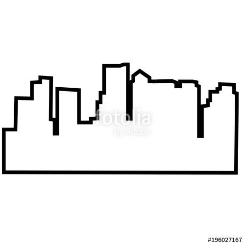 500x500 Boston Skyline Outline Simple Change Of Address Boston Boston