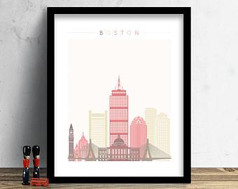 340x270 Boston Skyline Etsy