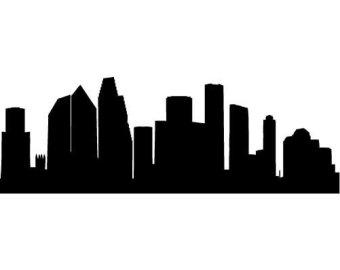 340x270 Houston Skyline Drawing