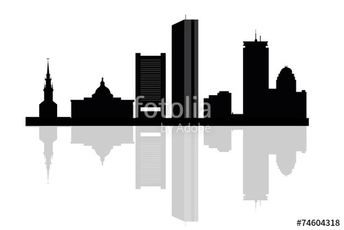 500x334 Huge Collection Of 'boston City Skyline Silhouette' Download More
