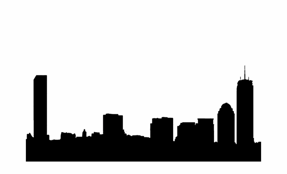 920x559 Silhouette Boston Skyline Free Png Images Clipart Download
