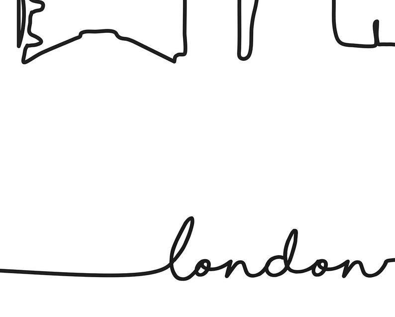 794x637 london skyline print city skyline outline poster city etsy