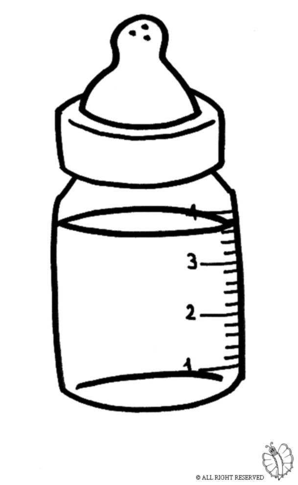 609x990 how to draw a baby bottle water bottle drawing how to draw a water