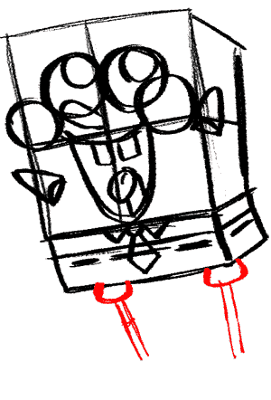 300x442 spongebob draw spongebob's legs and the bottom of his pants