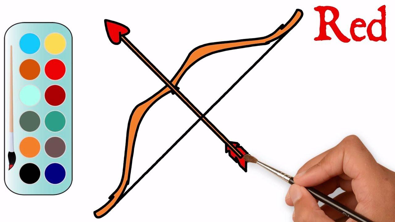 1280x720 Bow Arrow Drawing Step