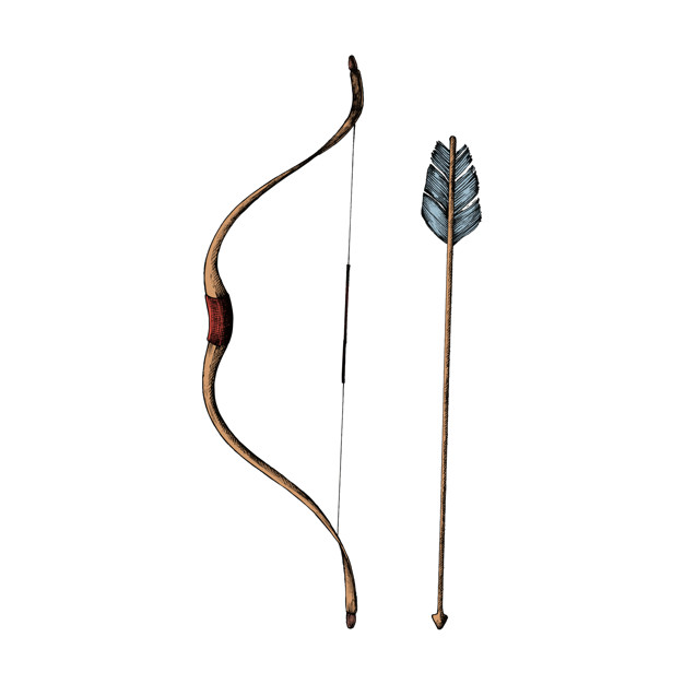 626x626 Free Download Hand Drawn Bow And Arrow