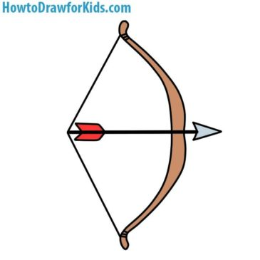 365x365 How To Draw A Bow And Arrow For Kids How To Draw For Kids