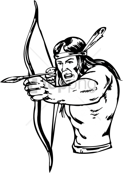 480x677 Native American Bow And Arrow Drawing Png Image With Transparent