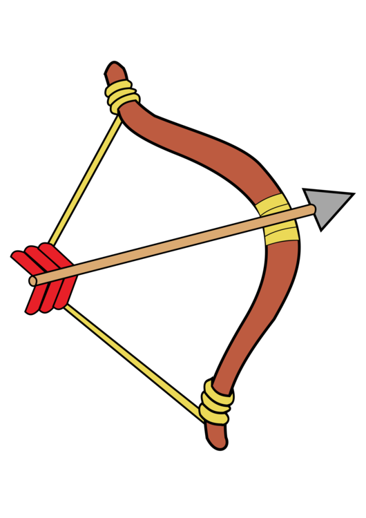 530x750 Archery Bow And Arrow Drawing Bowhunting Cc0