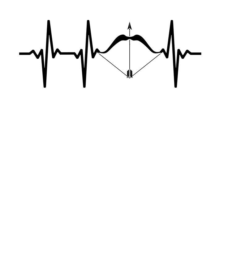 750x900 Archery Heartbeat Bow And Arrow Archer Drawing