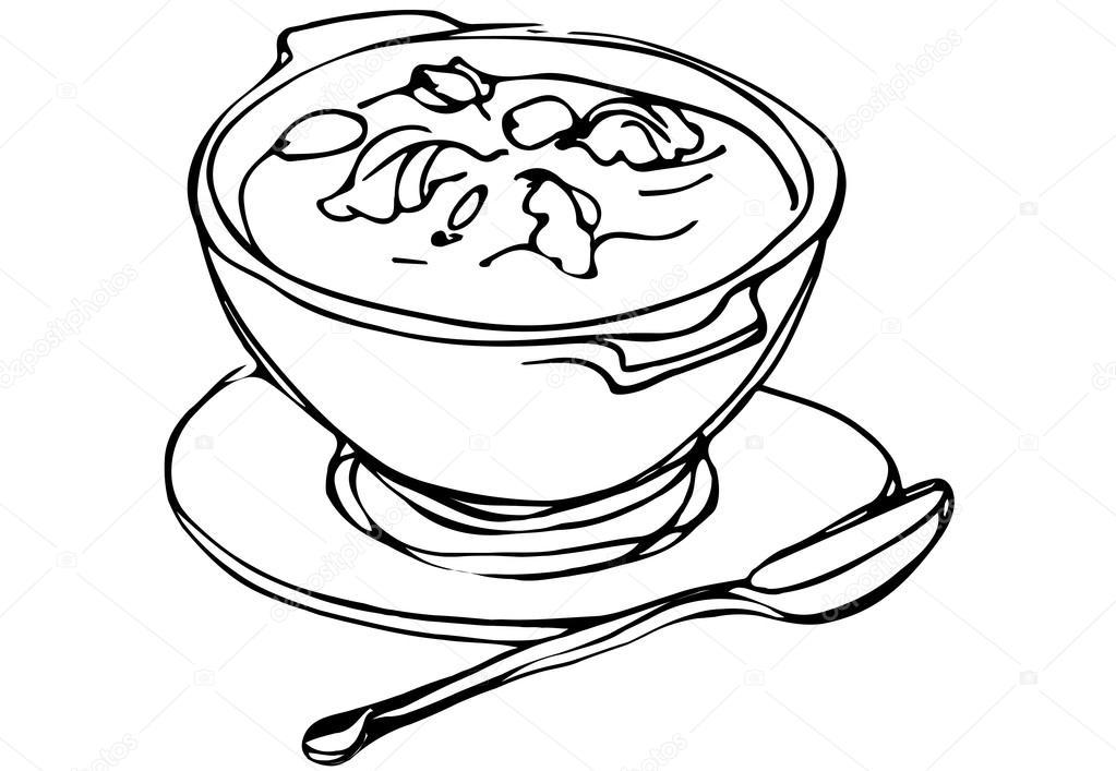 Bowl Of Chili Drawing