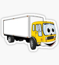 210x230 box truck delivery truck cartoon truck haul drawing stickers
