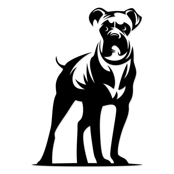 600x600 boxer drawing boxer dog for free download