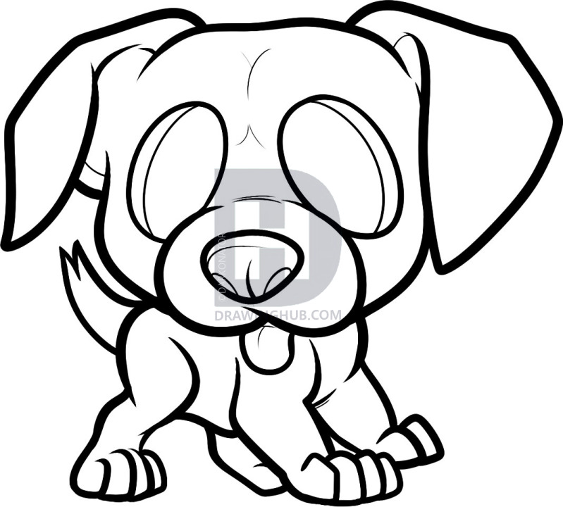 799x720 how to draw a boxer puppy, boxer puppy, step