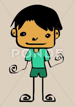 252x360 Cute Cartoon Boys And Girls Clip Art Illustration And Drawing