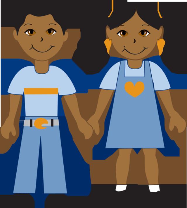 640x711 Graphic Design Kindergarten Boy, Girl Drawing, Girl Cartoon