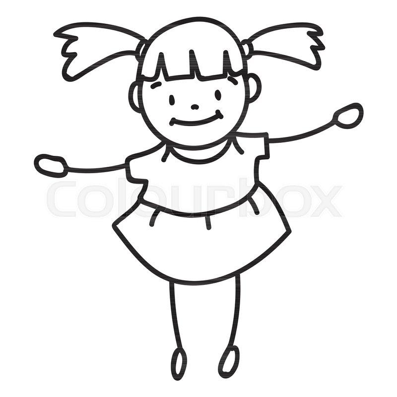 800x800 Hand Drawing Cartoon Character Happy Stock Vector Colourbox