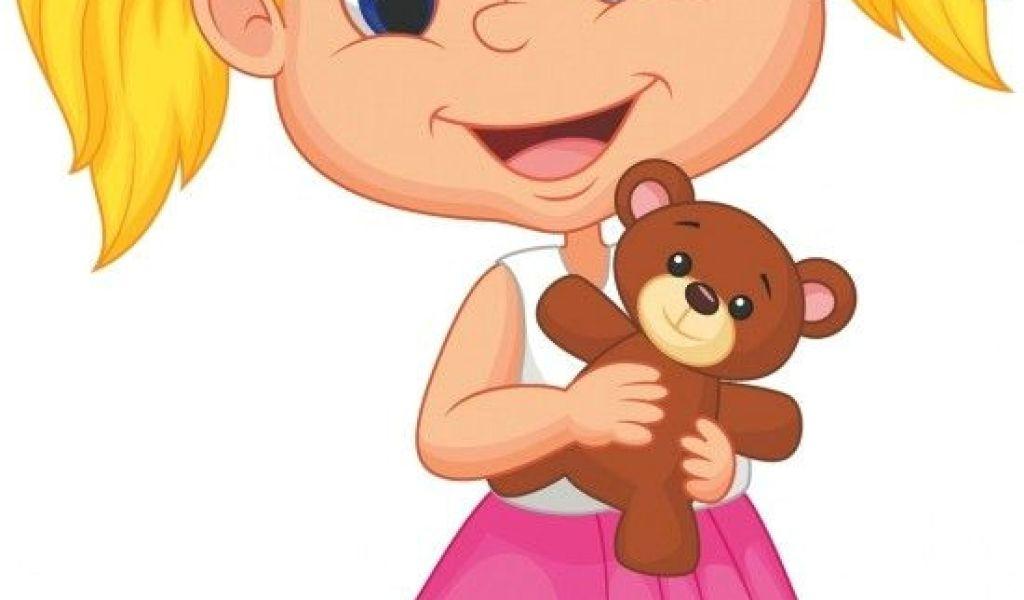 1024x600 Cartoon Drawing Little Boy Little Girl Holding Bear Stuff Kids