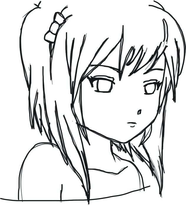 631x700 Easy Drawing Of A Girl Easy Drawing Of A Girl Face Step