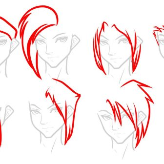336x336 How To Draw An Anime Boy Eyes And Girl Kissing Step