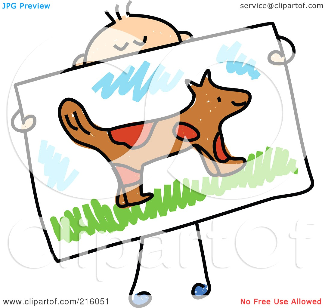 1080x1024 Drawing Clipart Royalty Free Rf Illustration Of A Childs Sketch
