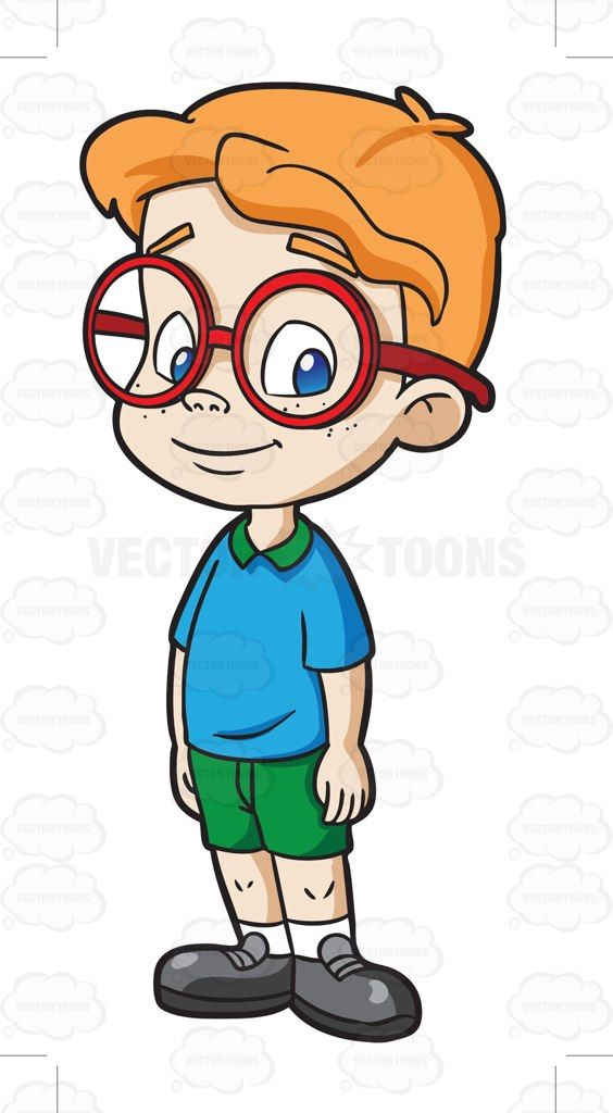 564x1024 Boy Cartoon Characters With Glasses Male Kindergarten Student