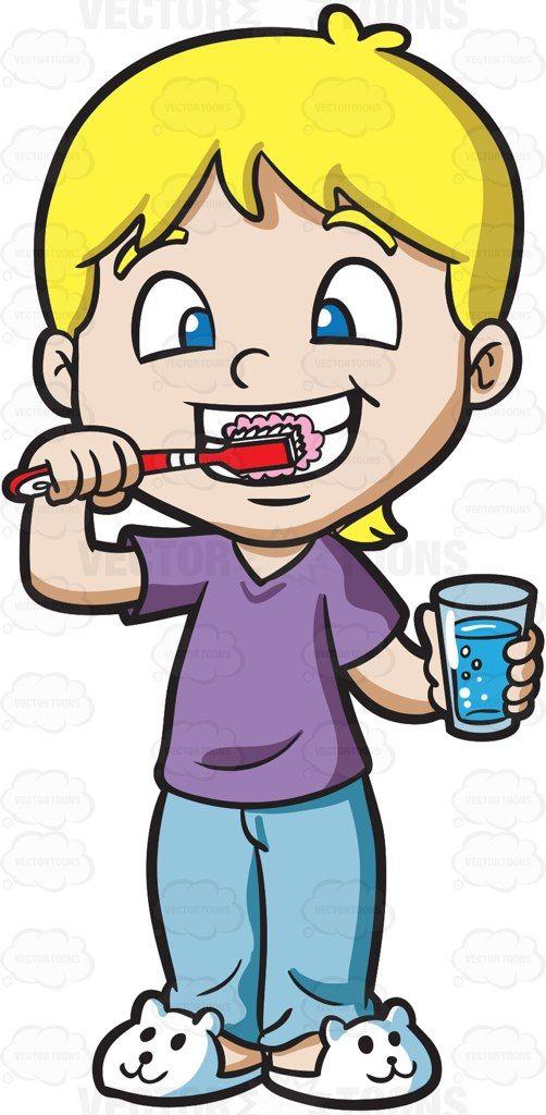 502x1024 A Cute Boy Brushing His Teeth