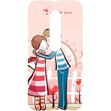 385x385 Casotec Boy Kissing Girl Design Hard Back Case Cover For Motorola