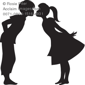 297x300 Collection Of 'girl And Boy Kissing Silhouette' Download More