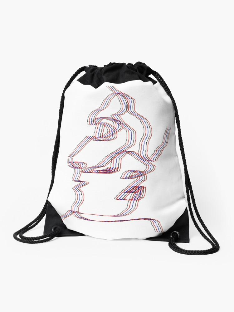 750x1000 Girl And Boy Kissing Drawstring Bag