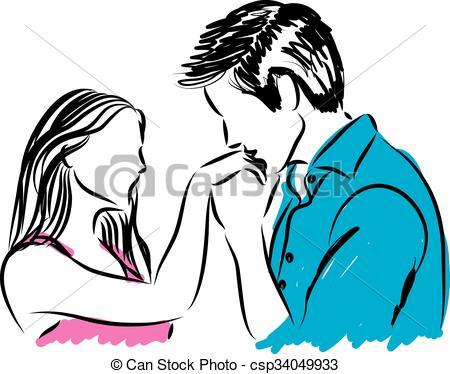 450x374 Boy Kissing Girl On Forehead Drawing