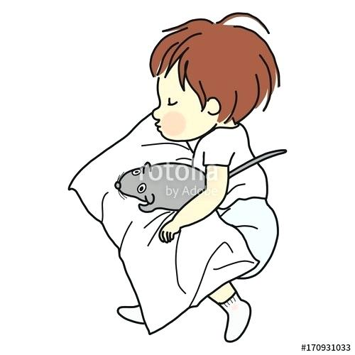 500x500 kid sleeping in bed drawing boy sleeping stock vector kid sleeping