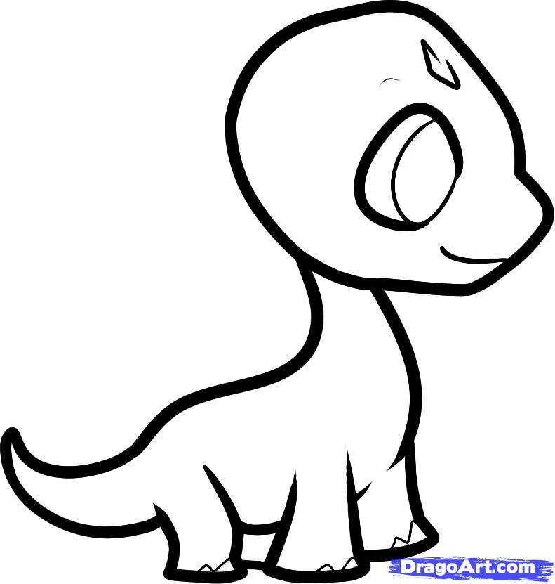 791x831 How To Draw A Brachiosaurus For Kids, Step