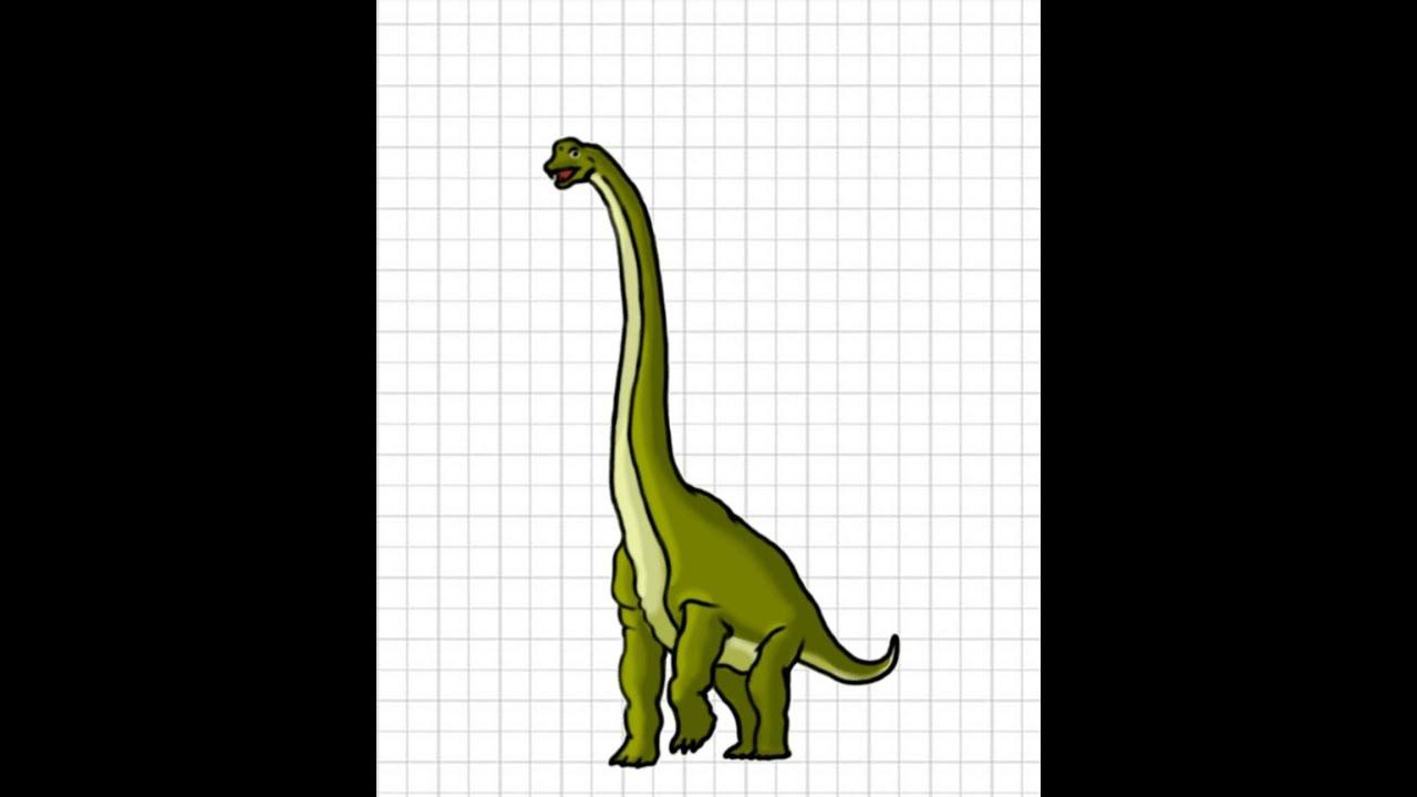 1280x720 How To Draw Brachiosaurus