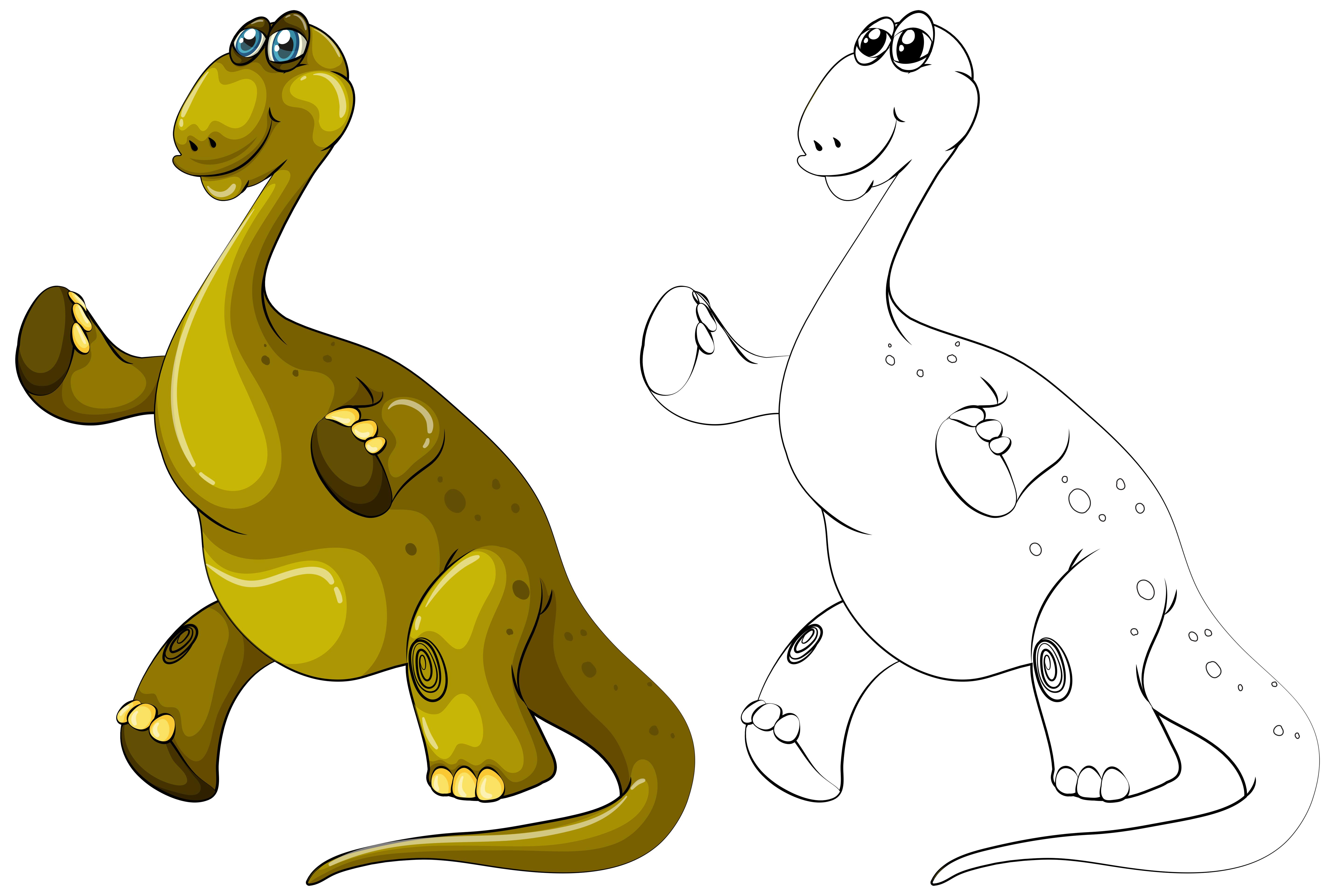 5725x3843 Animal Outline For Brachiosaurus Dinosaur