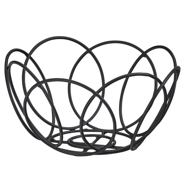 600x600 Cal Mil Black Wire Bread Basket
