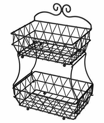 339x400 Denozer Tier Fruit Bread Basket Display Stand Screwless Design