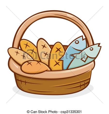 450x470 Five Bread And Two Fish In A Basket Five Bread And Two Fish