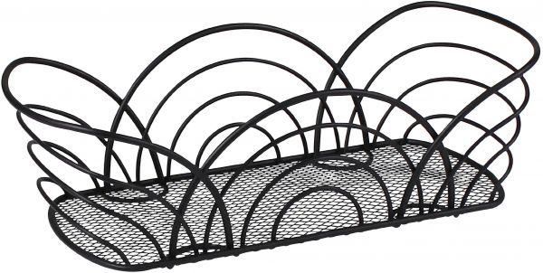 600x302 Spectrum Diversified Twist Flower Bread Basket, Black Souq