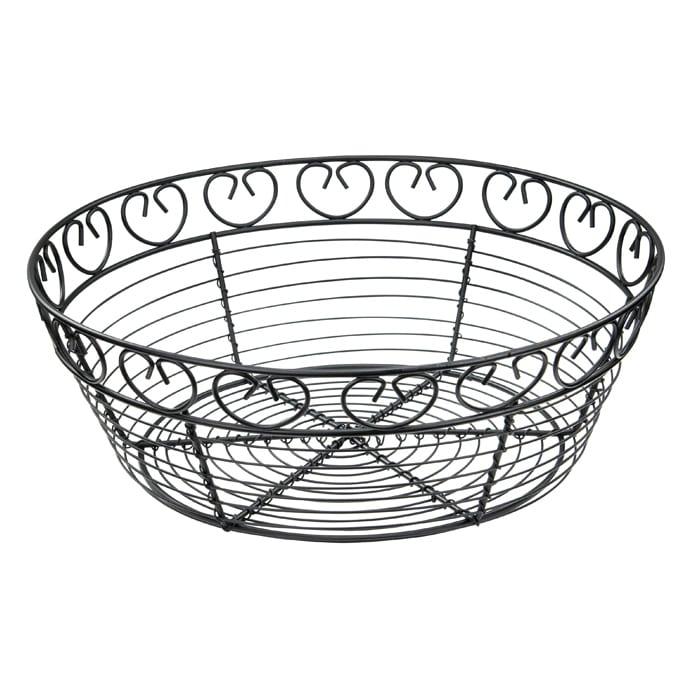 700x700 Winco Wbkg Round Breadfruit Basket, X Black Wire