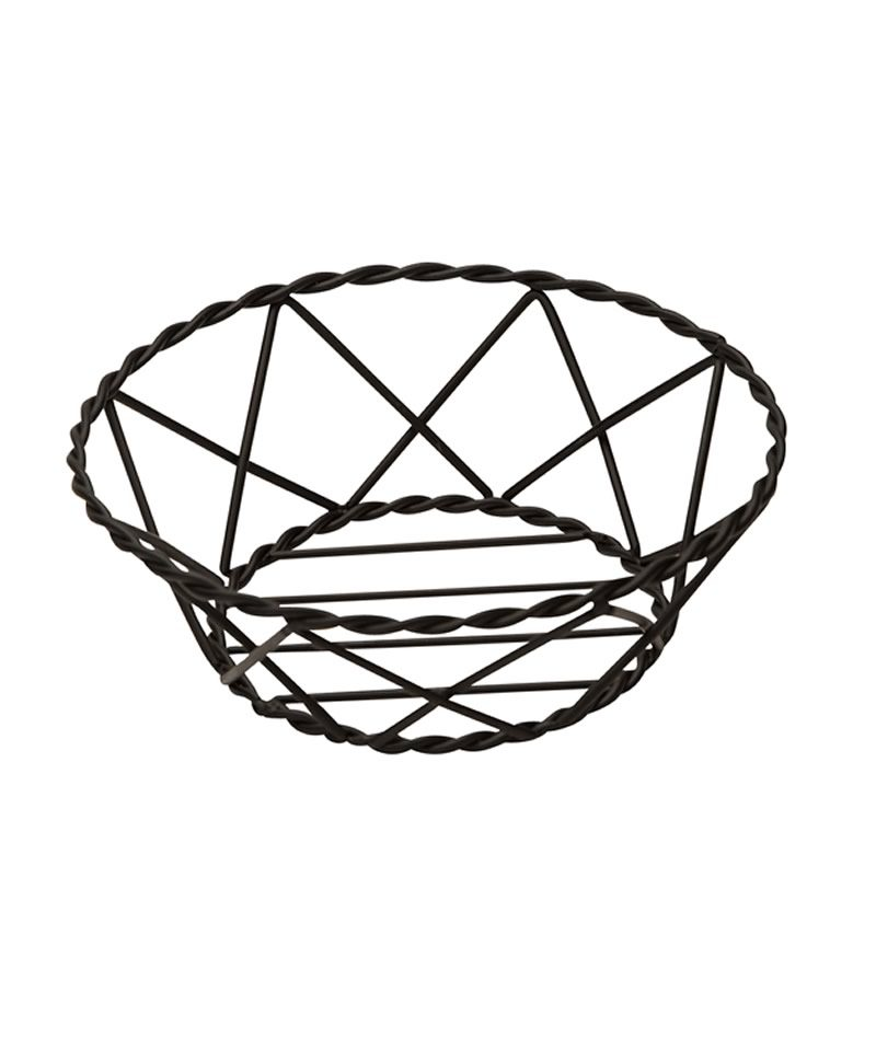 800x960 Black Metal Round Bread Basket