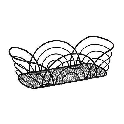 425x425 Spectrum Diversified Twist Flower Bread Basket, Black