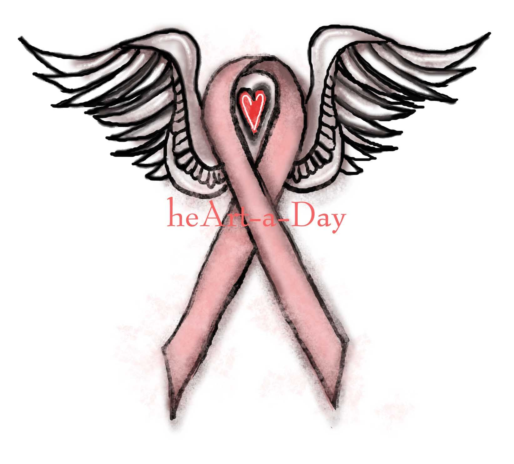 1644x1484 pink ribbon angel everything pink cancer ribbon tattoos