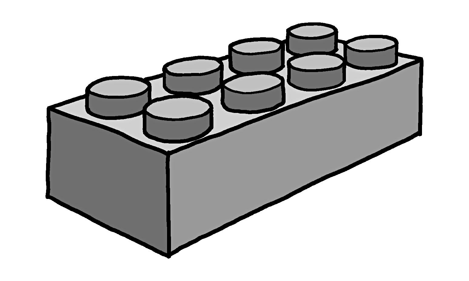 Brick Building Drawing