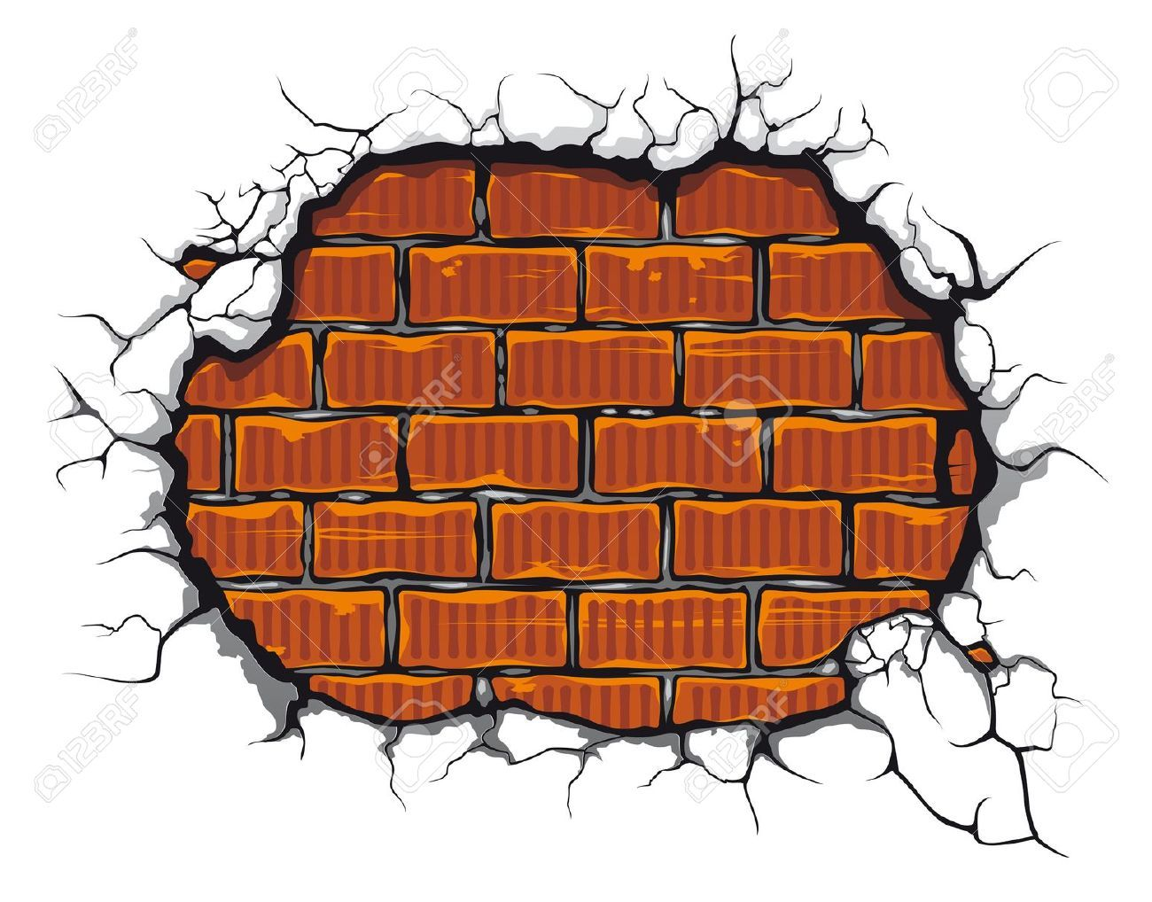 1300x1018 wall clipart cracked wall pencil and in color wall, brick wall