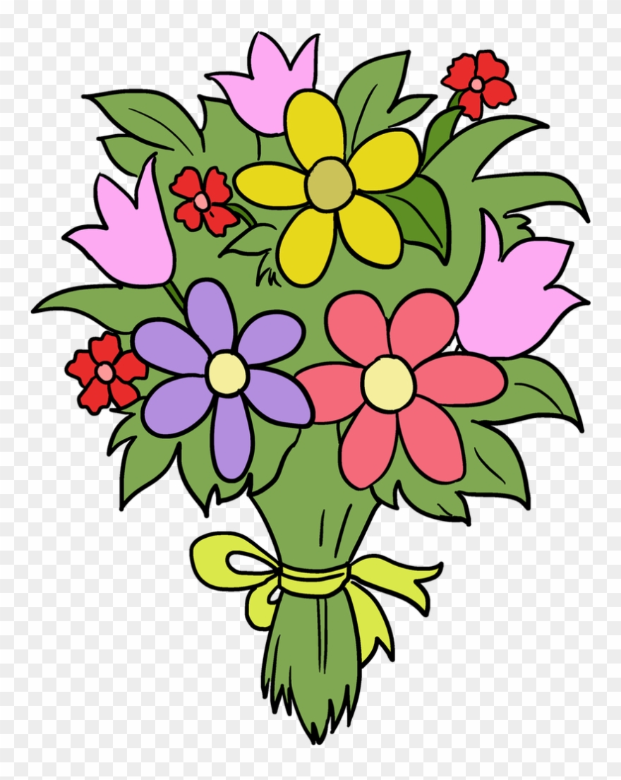 880x1105 Bouquet Clipart Fun Flower