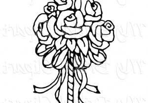 300x210 Wedding Bouquet Clipart Black And White Bridal Bouquet Drawing