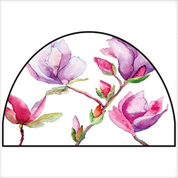 355x355 Semicircle Area Rug Pink And Purple Fresh Magnolia