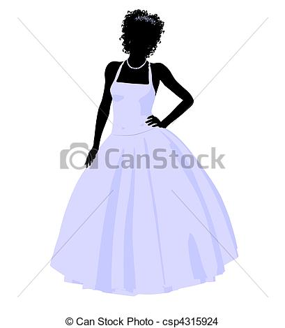 409x470 african american wedding bride silhouette african ameircan woman