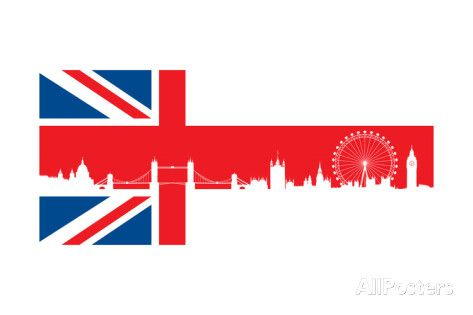 473x315 British Flag With Very Detailed Silhouette London Skyline